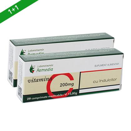 Vitamina C 200mg (masticabile cu indulcitor)