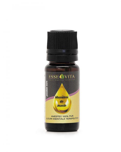 Amestec pur de uleiuri esentiale pentru muscaturi de insecte